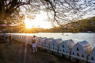 Kandi, Sri Lanka. Early morning on the lake