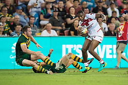 December 2, 2017 - Brisbane, Australie - Jermaine McGillvary of England during the Rugby League World Cup Men s Final match between Australia and England at Brisbane Stadium, Brisbane, Australia on 2 December 2017 (Credit Image: © Panoramic via ZUMA Press)