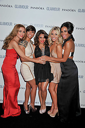 Pop group The Saturdays - Una Healey, Frankie Sandford, Vanessa White, Mollie King and Rochelle Wiseman at the Glamour Women of The Year Awards 2011 held in Berkeley Square, London W1 on 7th June 2011.