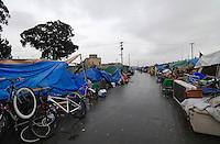 A bleak scene in mid-November, 2015, on Market Way looking toward Soledad Street in Salinas' Chinatown.