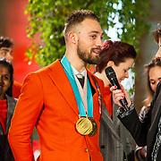 NLD/Den Haag/20180323 - Huldiging Olympische en Paralympische medaillewinnaars, Kjeld Nuis