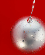silver bauble christmas decoration