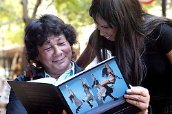21 MAY 2004 - INTERNATIONALLY RENOWNED PHOTOGRAPHER GEORGE HALLET WITH THE LAUNCH OF HIS NEW COFFEE TABLE BOOK 10 YEARS OF DEMOCRACY .WITH HIM IS CECILIA STORY LYNETTE JOHNS Picture: Enver Essop/African News Agency(ANA)