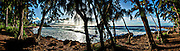 Three Tables beach super panorama on the north shore of Oahu, Hawaii