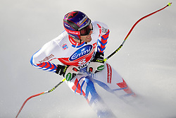 19.01.2013, Lauberhornabfahrt, Wengen, SUI, FIS Weltcup Ski Alpin, Abfahrt, Herren, im Bild Adrien Theaux (FRA) im Ziel // reacts after his run of mens downhillrace of FIS Ski Alpine World Cup at the Lauberhorn downhill course, Wengen, Switzerland on 2013/01/19. EXPA Pictures © 2013, PhotoCredit: EXPA/ Freshfocus/ Urs Lindt..***** ATTENTION - for AUT, SLO, CRO, SRB, BIH only *****
