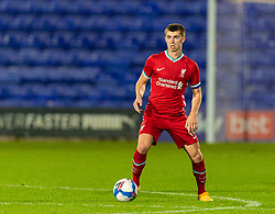 BIRKENHEAD, ENGLAND - Tuesday, September 29, 2020: Liverpool's captain Ben Woodburn during the EFL Trophy Northern Group D match between Tranmere Rovers FC and Liverpool FC Under-21's at Prenton Park. Tranmere Rovers won 3-2. (Pic by David Rawcliffe/Propaganda)