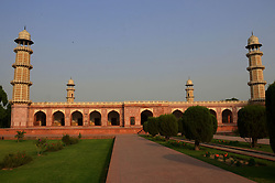 October 2, 2018 - Lahore, Punjab, Pakistan - 56 years old artist Eid Muhammad and their team worker working on restoration & renovation at emperor Jahangir's tomb which is on the tentative list of UNESCO's world heritage sites is quietly under way in Shahdara. Restoration & renovation work of the emperor Jahangir's tomb is underway. The tomb of Jahangir is a mausoleum built for Jahangir, who ruled the Mughal empire from 1605 to 1627. (Credit Image: © Rana Sajid Hussain/Pacific Press via ZUMA Wire)