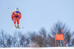 February 15, 2018 - Jeongseon, Gangwon, South Korea - Kjetil Jansrud of Norway coming in as number 2 in mens downhill at Jeongseon Alpine Centre at Jeongseon , South Korea on February 15, 2018. (Credit Image: © Ulrik Pedersen/NurPhoto via ZUMA Press)