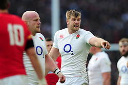 George Kruis of England - Mandatory byline: Patrick Khachfe/JMP - 07966 386802 - 12/03/2016 - RUGBY UNION - Twickenham Stadium - London, England - England v Wales - RBS Six Nations.