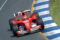 Formel 1, AUTO - F1 2004 - AUSTRALIA GP - MELBOURNE 20040307 - PHOTO : ERIC VARGIOLU / Digitalsport<br /> N¡ 1 - MICHAEL SCHUMACHER (GER) / FERRARI - ACTION