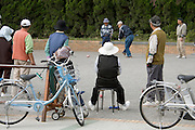 elderly people gathering in Japan