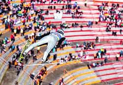 24.02.2019, Bergiselschanze, Innsbruck, AUT, FIS Weltmeisterschaften Ski Nordisch, Seefeld 2019, Nordischen Kombination, Teambewerb, Skisprung, Wertungssprung, im Bild Jarl Magnus Riiber (NOR) // Jarl Magnus Riiber of Norway during the skijump for the team competition Nordic Combined of FIS Nordic Ski World Championships 2019. Bergiselschanze in Innsbruck, Austria on 2019/02/24. EXPA Pictures © 2019, PhotoCredit: EXPA/ JFK