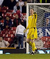 Photo: Jed Wee.<br /> England v Greece. International Friendly. 16/08/2006.<br /> <br /> England's Chris Kirkland finally makes an appearance for the national team.