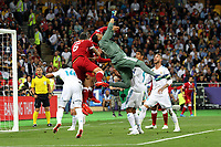 KIEV, UKRAINE - MAY 26: Keylor Navas of Real Madrid in action during the UEFA Champions League final between Real Madrid and Liverpool at NSC Olimpiyskiy Stadium on May 26, 2018 in Kiev, Ukraine. (MB Media)