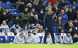 February 18, 2019 - London, United Kingdom - Chelsea manager Maurizio Sarri .during FA Cup Fifth Round between Chelsea and Manchester United at Stanford Bridge stadium , London, England on 18 Feb 2019. (Credit Image: © Action Foto Sport/NurPhoto via ZUMA Press)