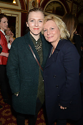 Left to right, ELLA EDMONSON and her mother JENNIFER SAUNDERS at a gala performance of 'Once The Musical' in aid of Oxfam held at the Phoenix Theatre, 110 Charing Cross Road, London on 17th March 2014.