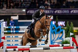 Delestre Simon, FRA, Ulane Belmaniere<br /> Stuttgart - German Masters 2018<br /> © Hippo Foto - Stefan Lafrentz