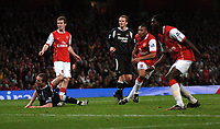 Photo: Tony Oudot.<br /> Arsenal v Manchester City. The Barclays Premiership. 17/04/2007.<br /> Julip Baptista of Arsenal scores the third goal