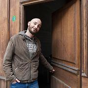 Piccolo Teatro Grassi, Milano, Italia, 9 Aprile 2021. Enrico Pittaluga, 34 anni, attore.