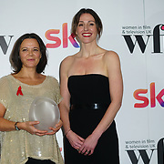 London Hilton, Park lane, England, UK. 1st December 2017. Elhum Shakerifar, Suranne Jones  attends the Sky Women in Film and TV Awards.