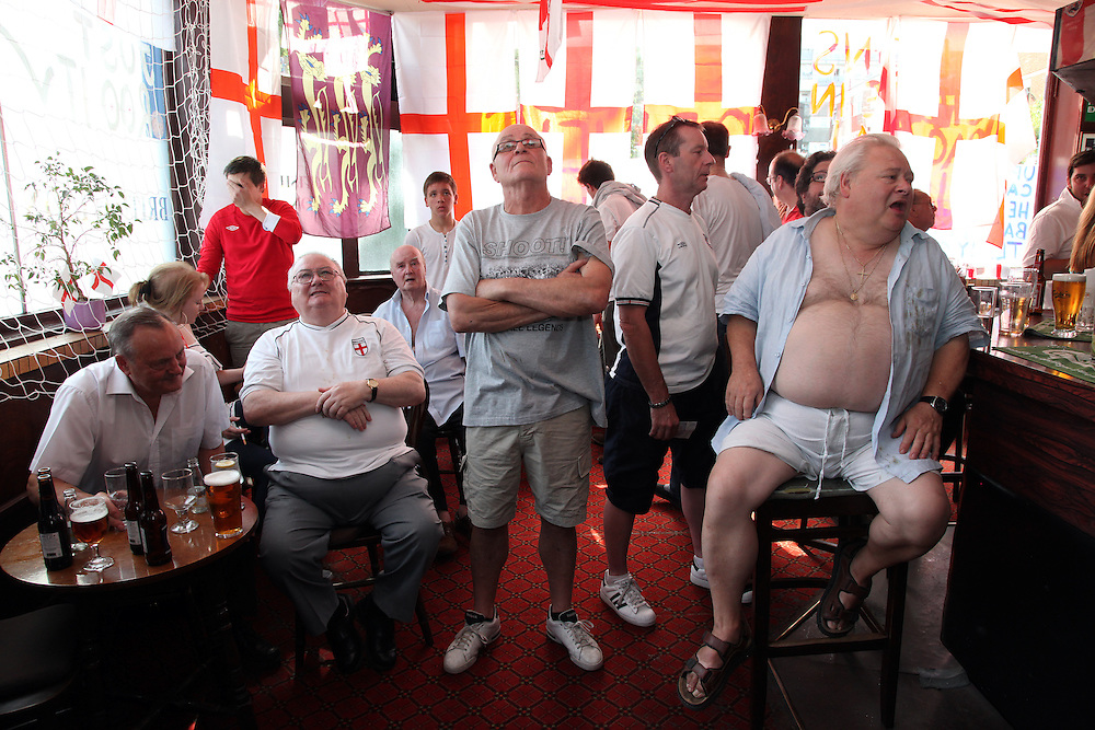 England v Germany at Three Lions in Hackney.<br /> <br /> Copyright: Jonathan GoldbergWorld Cup 2010 watched  on London TV<br /> England v Germany at The British Lion, Hackney Road