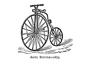 Ariel high wheel bicycle 1873 [British Made] From Wheels and Wheeling; An indispensable handbook for cyclists, with over two hundred illustrations by Porter, Luther Henry. Published in Boston in  1892