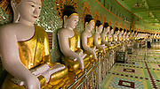 U Min Thonze Caves, Sagaing Hill<br /> The pagoda is build around the 14th century and it was reconstructed in the mid 19th century. It has 30 semicircular gallery entrances, which resemble cave openings.