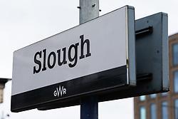 Slough station file images. Slough, Berkshire, July 30 2019.