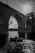 Järnvägsbro på södra stambanan över Årstaviken