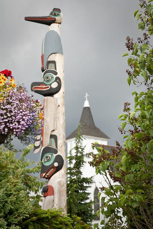 Totem, downtown Ketchikan, Alaska