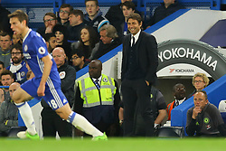 Chelsea manager Antonio Conte smiles during the match - Mandatory by-line: Jason Brown/JMP - 08/05/17 - FOOTBALL - Stamford Bridge - London, England - Chelsea v Middlesbrough - Premier League