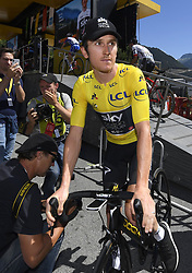 July 19, 2018 - Alpe D Huez, France - ALPE D'HUEZ, FRANCE - JULY 19 : THOMAS Geraint (GBR) of Team SKY during stage 12 of the 105th edition of the 2018 Tour de France cycling race, a stage of 175.5 kms between Bourg-Saint-Maurice Les Arcs and Alpe D'huez on July 19, 2018 in Alpe D'huez, France, 19/07/2018 (Credit Image: © Panoramic via ZUMA Press)