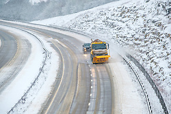 © Licensed to London News Pictures 24/01/2021, Cirencester, UK. A snow plough clearing the A417 outside of Cirencester after heavy overnight snow. Photo Credit : Stephen Shepherd/LNP