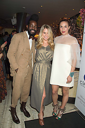 Left to right, ROY LUWOLT,  ALICE EVE and MARY ALICE MALONE at a party to celebrate the 10th anniversary of Nobu Berkeley Street held on 5th November 2015.