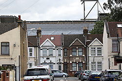 7 June 2017 - Boleyn Ground Demolition<br /> A general view (gv) of what remains of the West Stand from a neighbouring street<br /> Photo: Charlotte Wilson / Offside