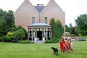 Koninklijke fotosessie 2013 op landgoed De Horsten ( het huis van de koninklijke familie)  in Wassenaar.<br /> <br /> Royal photoshoot 2013 at De Horsten estate (the home of the royal family) in Wassenaar.<br /> <br /> Op de foto / On the photo: <br /> <br />  Koning Willem-Alexander en koningin Maxima met de prinsesjes Amalia, Alexia en Ariane en de labrador Skipper<br /> <br /> King Willem-Alexander and Queen Maxima  with the princesses Amalia, Alexia and Ariane and the labrador Skipper