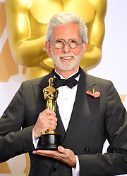 Frank Stiefel with this Best Documentary Short Subject Oscar for Heaven is a Traffic Jam on the 405 in the press room at the 90th Academy Awards held at the Dolby Theatre in Hollywood, Los Angeles, USA.Â