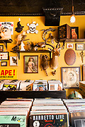 Black Gold, a vinyl, coffee, asnd antique shop in Brooklyn's Carroll Gardens.