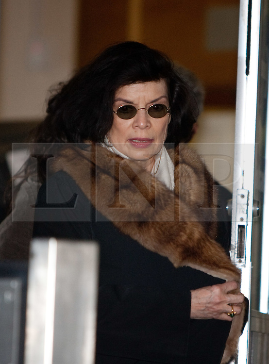 ©London News Picures. .Bianca Jagger leaves the City of Westminster Magistrates Court on December 14, 2010  where Julian Assange faced extradiation.Photo credit should read Fuat Akyuz/London News Pictures.