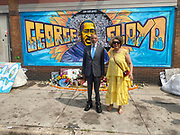 6/24/21  James Meredith poses with his wife Judy, outside Cup Foods in front of the George Floyd memorial mural. The site where Floyd was brutally killed by ex police officer Eric Chauvin who will be sentenced for the murder Friday June 25th. Civil rights icon James Meredith visits George Floyd Memorial Square the day before ex police officer Eric Chauvin is sentenced for the murder of George Floyd.  Meredith is in Minnesota for More Than A Moment, a series of roundtable discussions with students, educators, lawyers, and community leaders and faith leaders to discuss ways to end racism and how to build strong community leaders. Meredith emphasized the importance of speaking the truth and working together to make change for the better in our communities. Photo © Suzi Altman 6/24/21 James Meredith poses outside Cup Foods in front of the George Floyd memorial mural, Meredith says he was the George Floyd of his time. The site where Floyd was brutally killed by ex police officer Eric Chauvin who will be sentenced for the murder Friday June 25th. Civil rights icon James Meredith visits George Floyd Memorial Square the day before ex police officer Derek Chauvin is sentenced for the murder of George Floyd. Meredith is in Minnesota for More Than A Moment, a series of roundtable discussions with students, educators, lawyers, and community leaders and faith leaders to discuss ways to end racism and how to build strong community leaders. Meredith emphasized the importance of speaking the truth and working together to make change for the better in our communities. Photo © Suzi Altman #jamesmeredith #georgefloyd #minneapolis #minnesota #justice #peace #mural #memorial #education #suzialtman #shotoniphone #derekchauvin #murder #blacklivesmatter photo copyright © @suzialtman  #derekchauvin