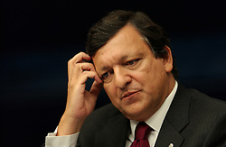 Jose Manuel Barroso, President of the European Commission, speaks during a press conference at the European Summit in Brussels. (Photo © Jock Fistick)