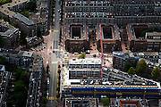 Nederland, Amsterdam, Amsterdam-Oost, 25-05-2010. Hart van de Indische Buurt: Javaplein en Molukkenstraat, nieuwbouw aan de Borneostraat..luchtfoto (toeslag), aerial photo (additional fee required).foto/photo Siebe Swart