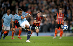 Manchester City's Gabriel Jesus (left) scores his side's fourth goal of the game
