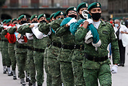 Mexico Military During Flag Lowering