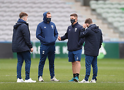 Bristol Bears players taking on the pitch before the game - Mandatory by-line: Matt Impey/JMP - 26/12/2020 - RUGBY - Twickenham Stoop - London, England - Harlequins v Bristol Bears - Gallagher Premiership Rugby