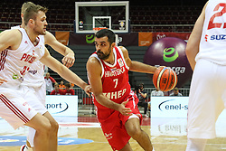 September 17, 2018 - Gdansk, Poland - Krunoslav Simon (7) of Croatia in action against Mikolaj Witlinski (32) of Poland  is seen in Gdansk, Poland on 17 September 2018  Poland faces Croatia during the Basketball World Cup China 2019 Qualifiers game in the ERGO Arena sports hall in Gdansk  (Credit Image: © Michal Fludra/NurPhoto/ZUMA Press)
