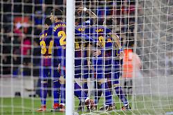 "January 7, 2018 - Barcelona, Catalonia, Spain - January 7, 2017 - Camp Nou, Barcelona, Spain - LaLiga Santander- FC Barcelona v Levante UD; Celebration of the 3-0 scored by JosŽ Paulo Bezerra Ã'PaulinhoÃ"" of FC Barcelona. (Credit Image: © Eric Alonso via ZUMA Wire)"