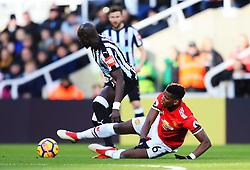 Paul Pogba of Manchester United tackles Mohamed Diame of Newcastle United - Mandatory by-line: Matt McNulty/JMP - 11/02/2018 - FOOTBALL - St James Park - Newcastle upon Tyne, England - Newcastle United v Manchester United - Premier League