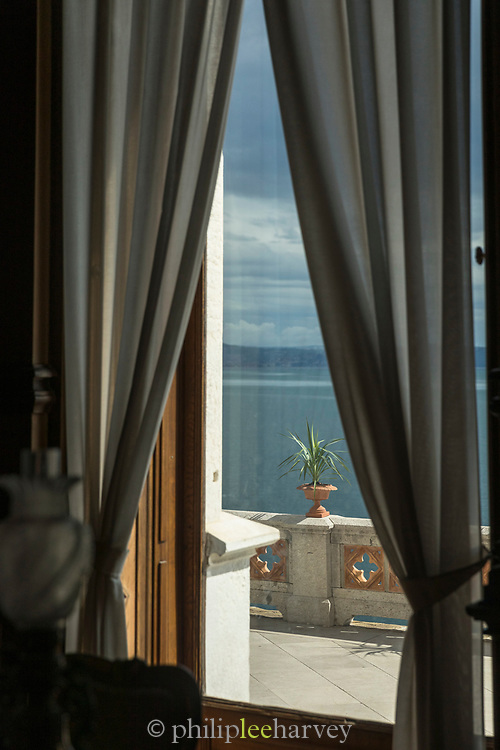 Window view from Miramare Castle, Trieste, Italy