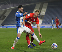 Huddersfield Town's Pipa in action with  Birmingham City's Marc Roberts<br /> <br /> Photographer Mick Walker/CameraSport<br /> <br /> The EFL Sky Bet Championship - Huddersfield Town v Birmingham City - Tuesday 2nd March 2021 - The John Smith's Stadium - Huddersfield<br /> <br /> World Copyright © 2020 CameraSport. All rights reserved. 43 Linden Ave. Countesthorpe. Leicester. England. LE8 5PG - Tel: +44 (0) 116 277 4147 - admin@camerasport.com - www.camerasport.com